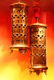 Arabic lamp. Stylish arabic lamp in colorful background Royalty Free Stock Photo