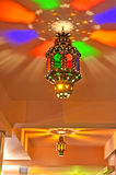 Arabic lamp with beautiful lights Stock Image