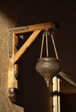 Arabic lamp hanging on a wall Royalty Free Stock Photography