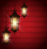 Arabic lamps for holy month of muslim community Stock Photo