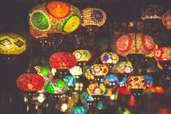 Arabic lamps and lanterns in the Marrakesh,Morocco Stock Image