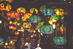 Arabic lamps and lanterns in the Marrakesh,Morocco Royalty Free Stock Images