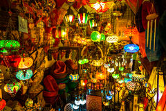 Arabic lamps and lanterns in the Marrakesh,Morocco Stock Photo