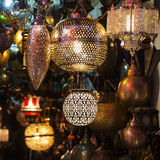 Arabic lamps in Marrakesh Royalty Free Stock Image