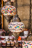 Arabic lamps - oriental traditional souvenirs Stock Photography