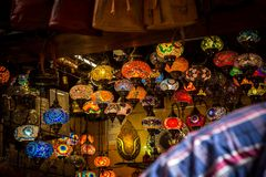 Arabic lamps in a shop Stock Photos