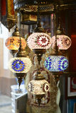 Arabic lamps. Traditional arabic lamps sold in the old town market in Muttrah, Muscat, Oman Stock Photos