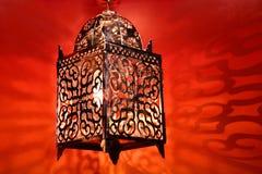 Arabic lantern. Stylish arabic lantern in colorful background Royalty Free Stock Photo