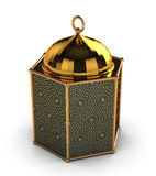 Arabic Lantern with Arabesque Motifs Royalty Free Stock Photography