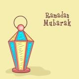 Arabic lantern for Holy month Ramadan Kareem celebration. Royalty Free Stock Photos