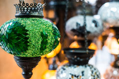 Arabic lantern lamp. Colorful arabic lantern lamp traditional style Royalty Free Stock Photos