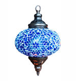 Arabic lantern lamp. Colorful arabic lantern lamp traditional style isolated on a white background Stock Image