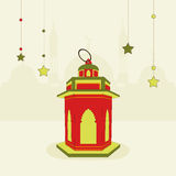 Arabic lantern for Muslims holy month Ramadan Kareem celebration. Royalty Free Stock Photos