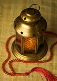 Arabic lantern and rosary Stock Photos