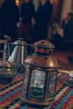 Arabic Lantern. Arabic Traditional Lantern In Restaurant Stock Image