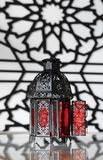 Arabic Lanterns. An arabic lantern with detailed lattice on the lantern and the background Royalty Free Stock Images