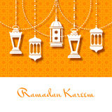 Arabic lanterns background for Ramadan Kareem royalty free illustration