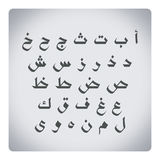 Arabic letters Royalty Free Stock Photos