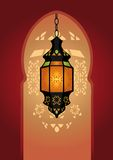 Arabic Lighting Lamp. Vector illustration Stock Photos