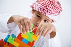 Arabic little boy playing Stock Photography