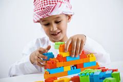 Arabic little boy playing Stock Photography