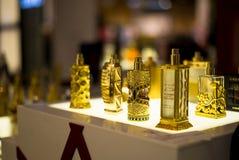 Arabic luxury Perfume Oils. Display of Arabic luxury Perfume Oils in the shopping mall. Dubai. U.A.E Stock Images