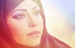 Arabic makeup beauty face Stock Photos
