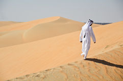 Arabic man in desert Royalty Free Stock Photography