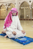 Arabic man dhikr in the mosque Royalty Free Stock Photos