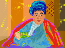 arabic man and grape Stock Photo
