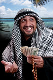 Arabic man. Happy smart business man arabic Royalty Free Stock Photography