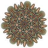 Arabic color mandala. Arabic mandala color background, yelow orange light Royalty Free Stock Photography