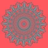 Arabic color mandala. Arabic mandala color background, yelow orange light Stock Photography
