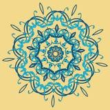Arabic color mandala. Arabic mandala color background, yelow orange light Stock Photos