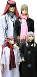 Arabic Mannequin Family. An Arabic Mannequin family in the Karama market in Dubai, UAE Stock Image