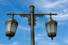 Arabic metal streetlight Stock Photos