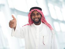 Arabic Middle eastern man with thumb up. Arabic Middle eastern black man with thumb up Royalty Free Stock Photo