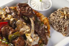 Arabic mixed grilled meat Stock Photography