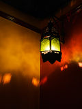 Arabic, Moroccan style lantern with shadows on wall Stock Photography