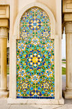 Arabic mosaic. Detail of Mosque of Hassan II in Casablanca , Morocco. Typical mosaic Royalty Free Stock Photo