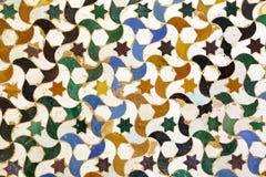 Arabic mosaic in the Alhambra, Granada Stock Images