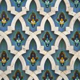 Arabic mosaic detail. Oriental mosaic detail - Hassan II Mosque - Casablanca - Best of Morocco stock photos
