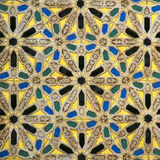 Arabic mosaic detail. Oriental mosaic detail - Hassan II Mosque - Casablanca - Best of Morocco Stock Images