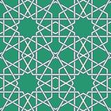Arabic mosaic. Green Arabic Byzantine seamless pattern vector illustration Royalty Free Stock Images