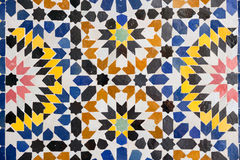 Arabic mosaic. In Marrakech, Morocco Royalty Free Stock Photography