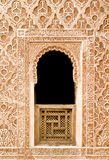 Arabic mosaic window detail. Oriental mosaic window detail from an ancient palace, Marrakesh, Morocco Royalty Free Stock Image