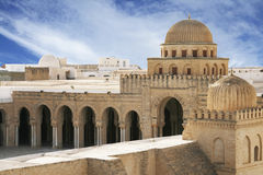 Arabic mosque. Famous Great Mosque of Kairouan in Tunisia Royalty Free Stock Photos