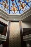 Arabic motives wall. In the luxury arabic hotel Royalty Free Stock Photo