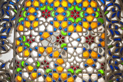 Arabic multicolored pattern, stained glass, mosaic Royalty Free Stock Photography