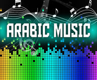 Arabic Music Shows Middle East And Arabia Royalty Free Stock Image